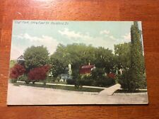 Postcard Rockford, Ill. Vogt Park, 5th and East Street.
