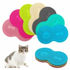 10 Inch Shape Non-Slip Pet Dog Puppy Cat PVC Placemat Dish Bowl Feeding Food