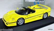 MINICHAMPS 1/43 - 430 075161 FERRARI F50 SPIDER 1995 - YELLOW DIECAST MODEL CAR