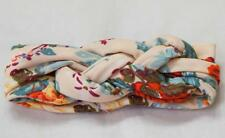 Baby Girl Toddler Celtic Knot Twist Cotton Floral Head Band BEIGE ~ Fast Ship