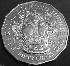 **2012 Australian Queen's Diamond Jubilee 50 cent UNC**