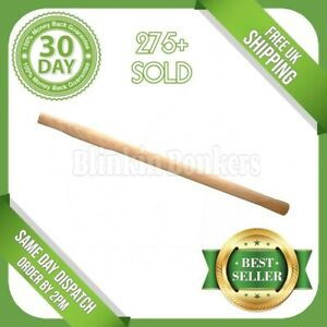 """28"""" SLEDGE HAMMER HANDLE SOLID WOOD WOODEN UNIVERSAL HEAVY DUTY LONG SPARE SHAFT"""