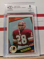 1984 Topps Darrell Green HOF ROOKIE RC #380 BECKETT 8 EXCELLENT