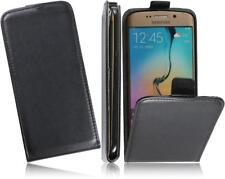Samsung GALAXY s6 Edge Flip PU CUSTODIA IN PELLE SLIM-Flexi Custodia cellulare nero-Case 2