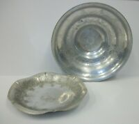Lot of 2 Wilson Hand Wrought Aluminum Vintage Bowls