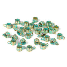 30pcs Vintage Bronze Verdigris Bails Bead DIY Bracelet Craft Making 5*6mm