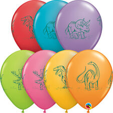 "DINOSAUR PARTY SUPPLIES BALLOONS 10 x 11"" QUALATEX DINOSAURS IN ACTION BALLOONS"