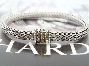 """John Hardy Dot Bracelet Sterling Silver/18K Yellow Gold 6.5mm width 7.75"""" long"""