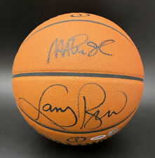 Magic Johnson Larry Bird SIGNED Spalding Official Basketball PSA/DNA AUTOGRAPHED