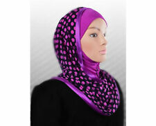 NEW Hooded Maxi scarf Instant Hijab slip on Kuwaiti WRAP shawl Muslim Headcover