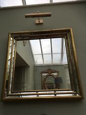 Rare 70s RODOLFO DUBARRY Stepped front mirror with smoked glass.Signed by artist