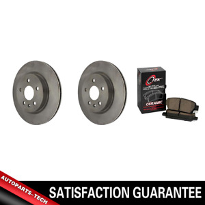 Centric Rear Brake Rotors & Ceramic Brake Pads 3PCS For Buick Allure