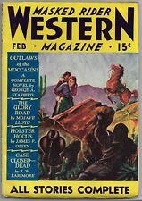 Vintage Pulp~MASKED RIDER WESTERN MAGAZINE~Feb. 1936 James P. Olsen+ HTF!