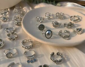 Vintage Fashion Adjustable Ring 925 Sterling Silver Women Jewellery Gift UK