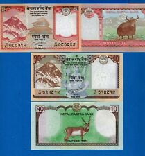 Nepal 5 & 10 Rupees Mt..Everest & Black Buck Uncirculated Banknotes Set #6