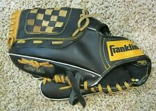 """Franklin 4661L LHT Pro Tanned Leather Youth Baseball Glove, 11"""", Black & Tan"""