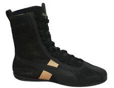 Zapatillas deportivas de mujer planos textil de color principal negro