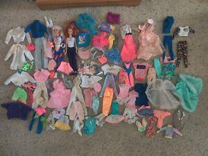 Vintage Barbie Dolls And Vintage Clothes/Shoes Large Lot