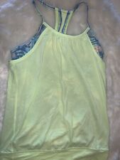 💛 IVIVVA by lululemon Girls double dutch tank top, size 12 green and Blue