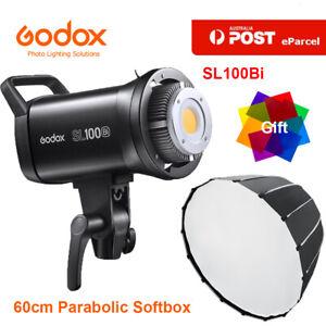 Godox SL100Bi 100W LED Video Light Bowens + 60cm Quick Deep Parabolic Softbox