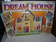 Dream Dollhouse Light Up House Blue Box 1990s Instructions Some Accessories Toy