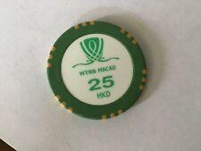 Wynn Casino Macau $25 casino chip
