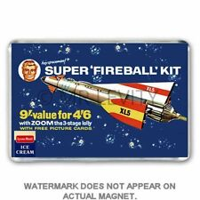 RETRO LYONS MAID - KITMASTER FIREBALL XL5 ADVERT JUMBO FRIDGE / LOCKER MAGNET