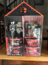 Meri Meri Halloween Party 24 Cupcake Cases & 24 Assorted Toppers Witch Skeleton