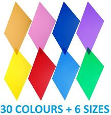 Colour Transparent Acetate Heat Resistant Gel Sheet Crafts Plastic Film Lighting