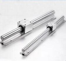 2X SBR12-955mm 12MM FULLY SUPPORTED LINEAR RAIL  SHAFT ROD + 4 SBR12UU Bloc