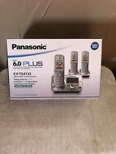 Panasonic KX-TG4133 1.9 GHz Trio Handsets Single Line Cordless Home Phone