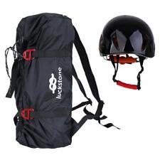 Folding Rock Climbing Rope Bag Caving Gear Backpack & Safety Helmet Hard Hat