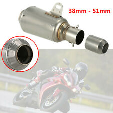Universal Titanium Motorcycle Stainless Steel 51mm Escape Exhaust Mufflers Pipe