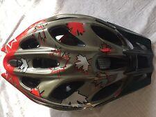 Alpina Firebird Fahrradhelm Bikehelm MTB,titan/red leaf Gr. 52-57 cm