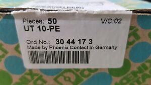 PHOENIX CONTACT Schutzleiterklemme PE-Klemme 10mm² UT10PE UT10 3044173 NEU OVP