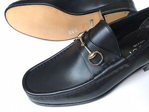 GUCCI Horsebit Black Leather TOM FORD era Classic Loafers US 11 D $700