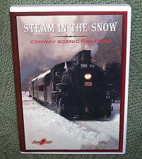 "b002 TRAIN VIDEO DVD ""STEAM IN THE SNOW"" 0-6-0 7470 LOCO NEW ENGLAND"