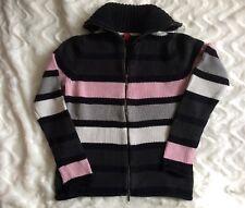 Esprit Strickjacke Gr S, schwarz- grau-rosa- Weiß gestreift, neuwertig