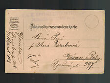 1915? Austria Feldpost KuK Postcard Cover Luftahrtruppen 8 Air Force Luftwaffe