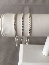 "Bracelets Set Of Three 7-1/2"" Long Sterling"