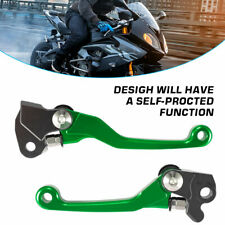 Green CNC Pivot Brake Clutch Levers For Kawasaki KX65/85 KX250/KX250F KX125 2004