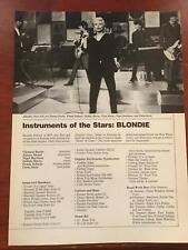 1979 Vintage Magazine Clipping Instruments Of The Stars: Blondie Debbie Harry