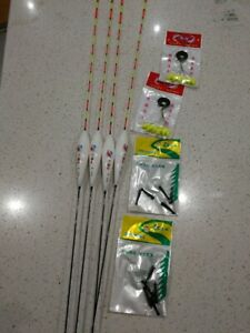 4x47cm LongSensitive Upright Fishing Floats Polybody $25 with stoppers/holders