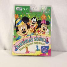 VTG Walt Disney Mickey Mouse Birthday Songs, Games, Eeyore Poster Cassette Kids