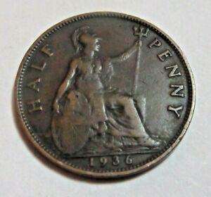 1936  Half Penny - King George V