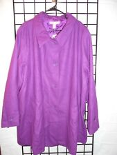woman with in purple dress coat size 32W