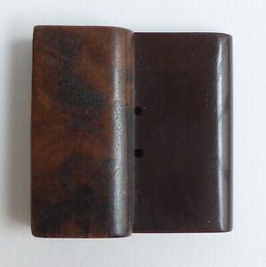 Botón Antiguo - Madera Y Galalith - 47MM - Wood Botón