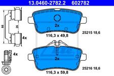 Bremsbelagsatz, Scheibenbremse für Bremsanlage Hinterachse ATE 13.0460-2782.2