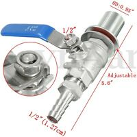 1/2'' Stainless Steel Weldless Compact Ball Valve Homebrew Wine Beer Kettle Poy