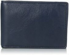 Fossil Men's Leather Truman Money Clip Bifold Navy ML3617400 NEW NWT BOX Blue